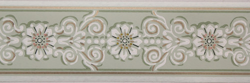 Trimz Vintage Wallpaper Border Medallion Band Green