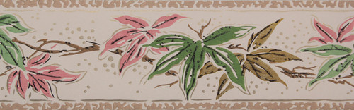 Trimz Vintage Wallpaper Border Japanese Maple Pink