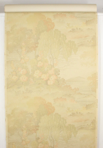 1930s Vintage Wallpaper Scenic Lake