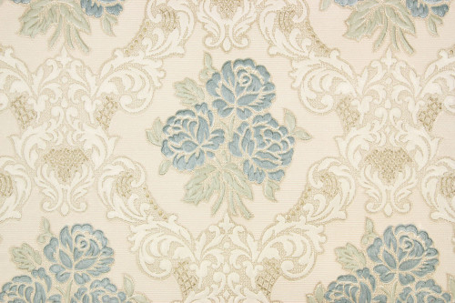 1960s Vintage Wallpaper Embossed Blue Roses