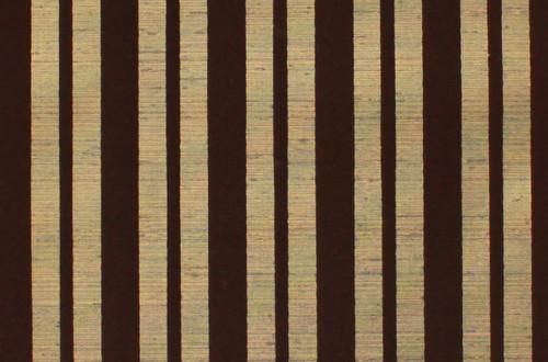 1970s Vintage Wallpaper Brown Flock Stripe on Gold