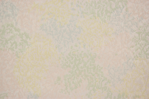 1940s Vintage Wallpaper Pink Blue and Yellow Swirl