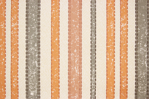 1970s Vintage Wallpaper Orange Gray Stripe