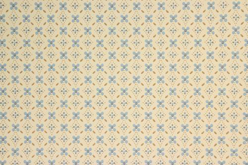 1970s Retro Vintage Wallpaper Blue Brown Geometric