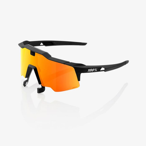 Speedcraft 100% AIR Sunglasses (Soft Tact Black - HiPER Red Multilayer Mirror)