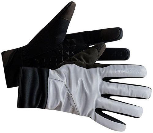 Craft Siberian Glow Reflective Glove Silver Black