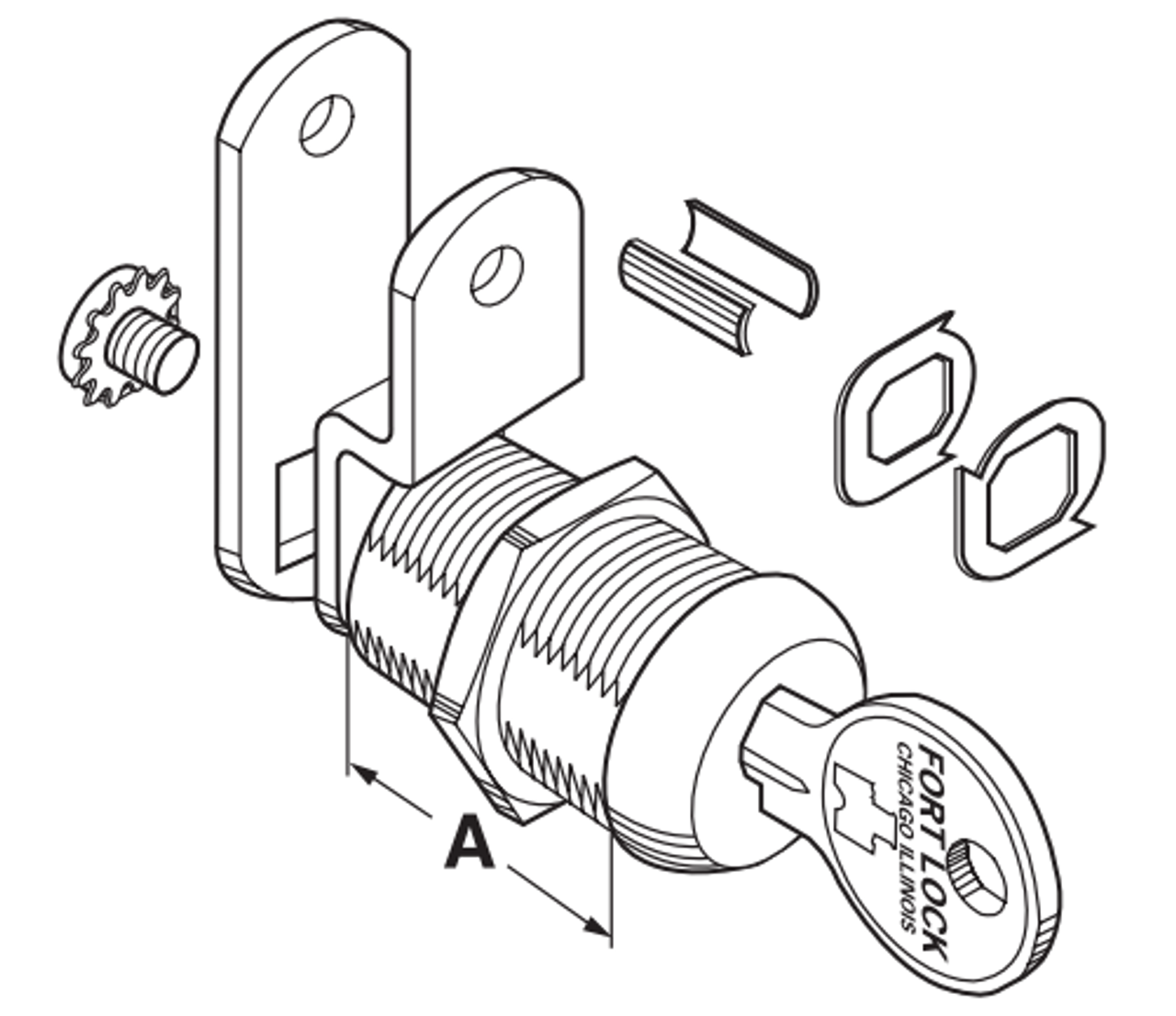 compx fort mfw23078 single bitted cam lock 5  8 u0026quot