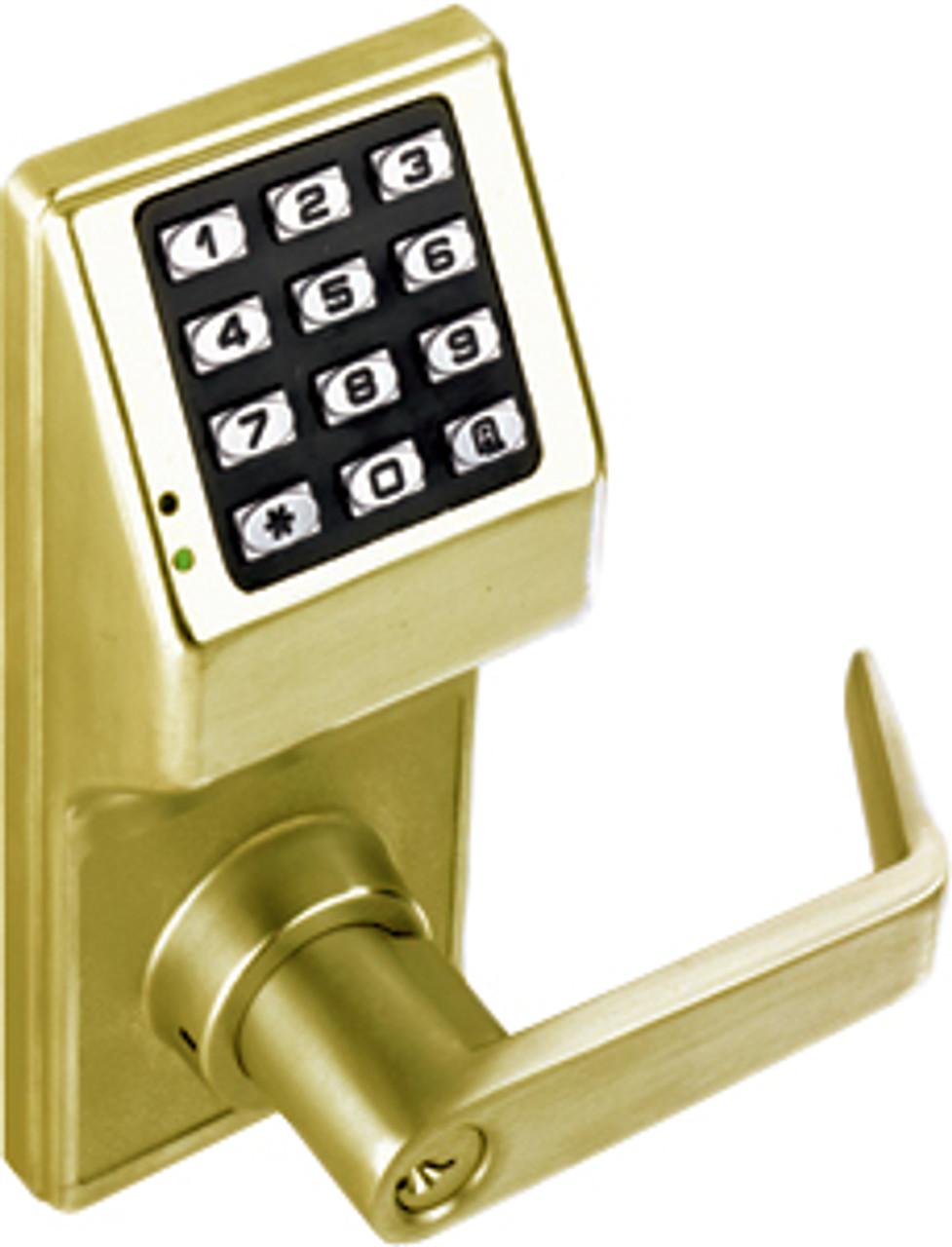 Alarm Lock Dl2700 Trilogy T2 Push Button Lock Satin Brass