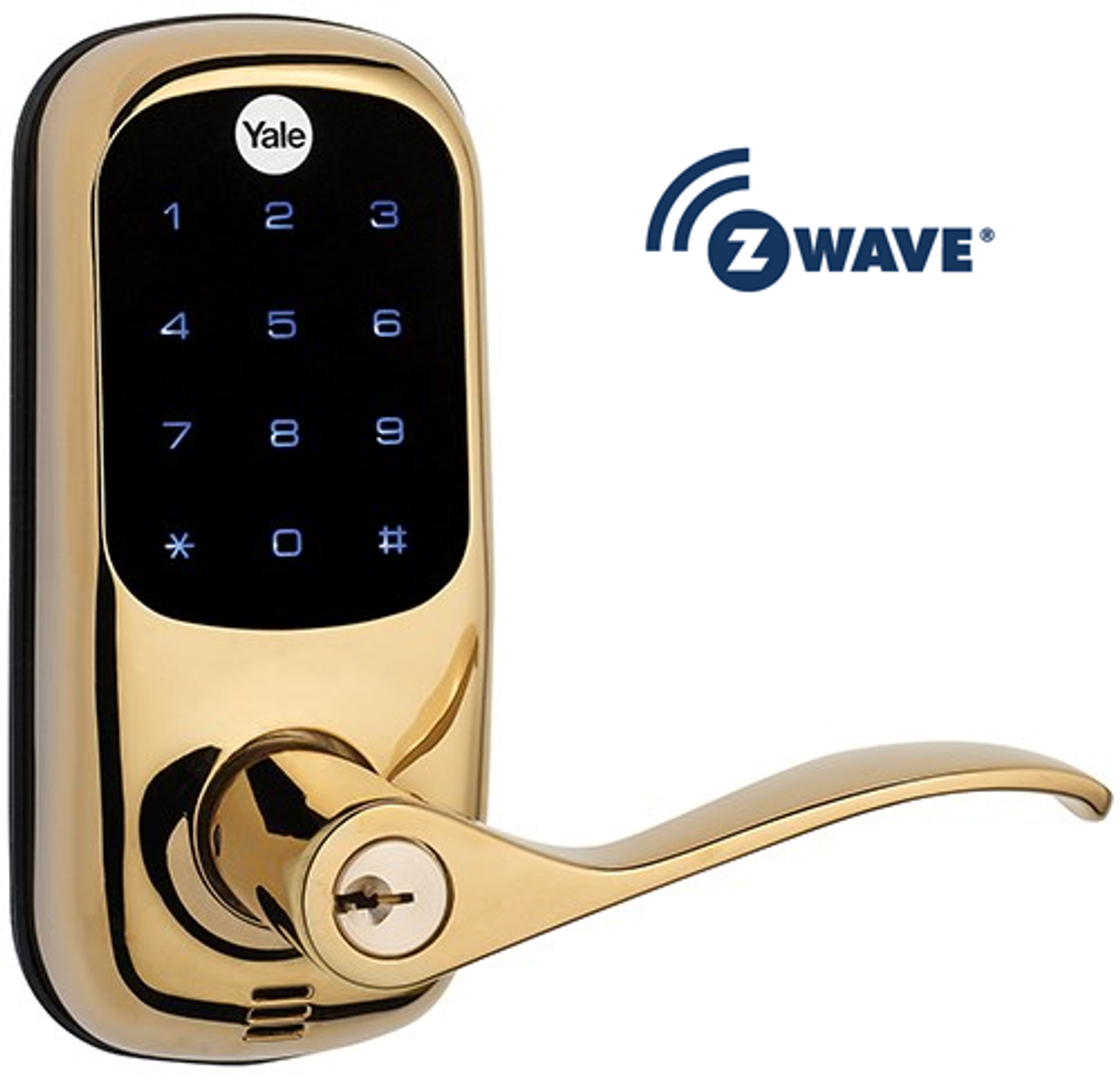 Yale Real Living Yrl220 605zw Kw Z Wave Touchscreen Lever Lock