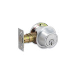 Schlage Single Cylinder B560P Deadbolt Lock (satin chrome)