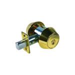 Medeco 11-0102-605 Bright Brass Double Cylinder Maxum Deadbolt Grade 1