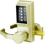 Kaba Access Simplex LL1021S-05-41 Left Hand Unican Pushbutton Lock Satin Brass Schlage Key Override