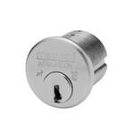 "1-1/8"" Medeco 10-0200-26D High Security Mortise Cylinder Satin Chrome"