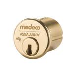 """1-1/4"""" Medeco 10-500-605 High Security Mortise Cylinder Polished Brass"""