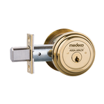 "Medeco M3 11TR603 2-3/8"" Backset Maxum Residential Single Cylinder Deadbolt Bright Brass"