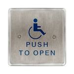 "Bea 10PBS451 4.5"" Handicap Push To Open Square Push Plate"
