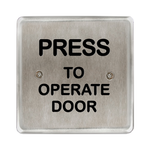 "Bea 10PBS45POD 4.5"" Press To Operate Square Push Plate"