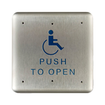 "Bea 10PBS1 4.75"" Handicap Push To Open Square Push Plate"