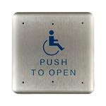 "Bea 10PBS1 4.75"" Handicap Push To Open Square Push Plate"