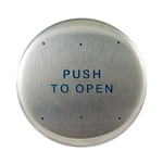 "Bea 10PBR 6"" Push To Open Round Push Plate"