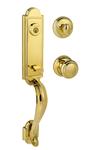 Baldwin 180AEHXATKRDBL03SV1 Single Cylinder Lock Set Bright Brass