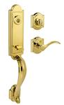 Baldwin 180AEHXTBLARBL03SV1 Single Cylinder Lockset Bright Brass