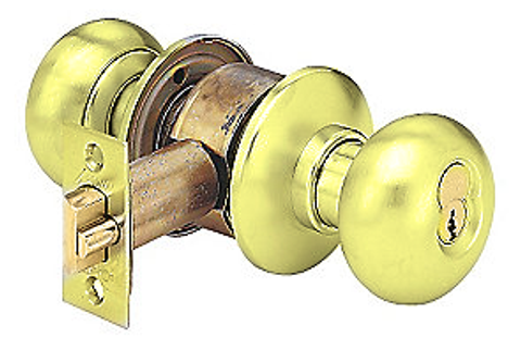 arrow h series h02tb 3 grade 1 privacybathroom door knob bright brass - Bathroom Door Knobs