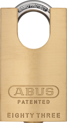 Abus 83cs 45 Brass Rekeyable Concealed Shackle Padlock