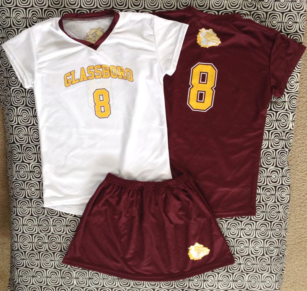 Short Sleeve Jersey and elastic waist skirt NFHS Compliant!