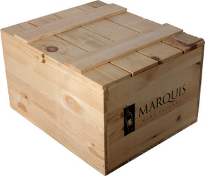 Pine Box Bordeaux 6 Bottle with hinged top
