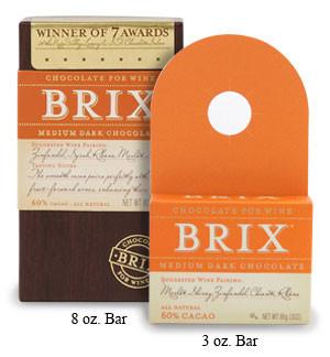 Brix Medium Dark Chocolate 3oz