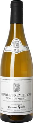 """Domaine Servin 2013 Chablis """"Mont de Milieu"""" 1er Cru 750ml"""