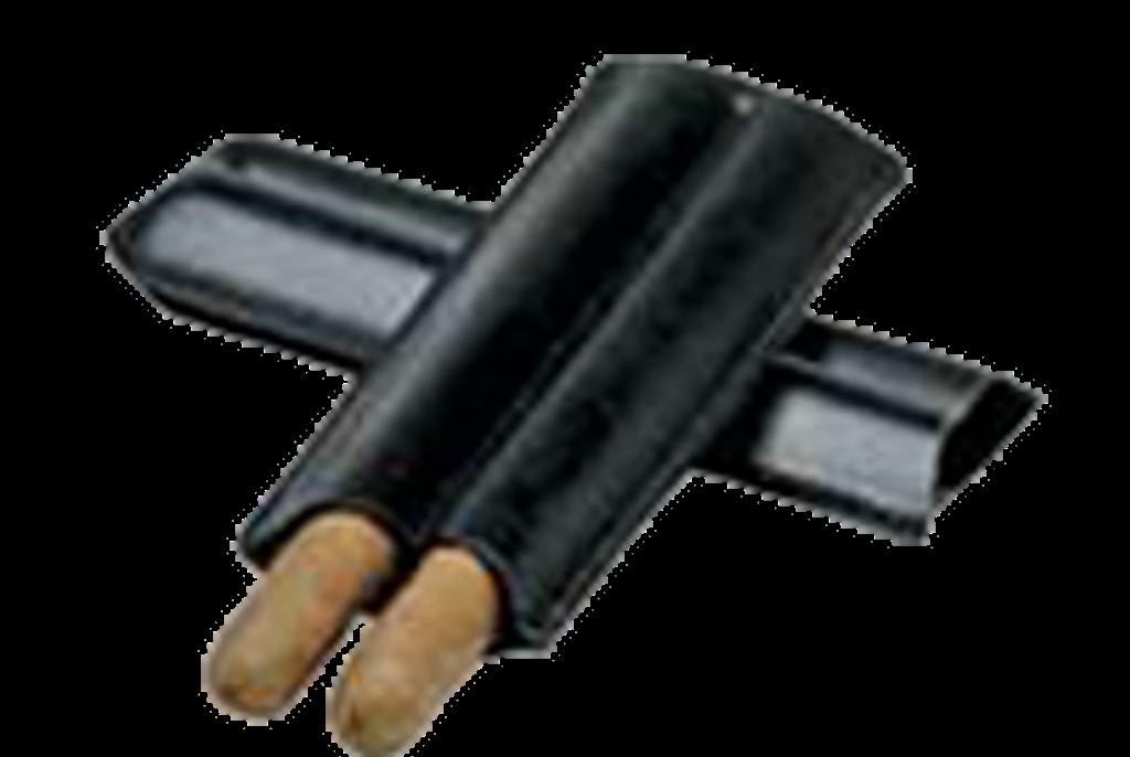 Black 2-Cigar Case (Bonded Leather)