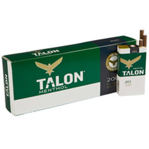 Talon Filtered Menthol Cigars (10 Packs of 20) - Natural
