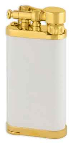IM Corona Old Boy White Matte with Gold Plate Lighter