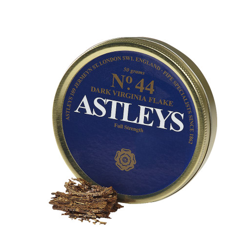 Astley's No. 44 Dark Virginia Flake Pipe Tobacco | 1.75 OZ TIN