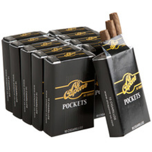 Al Capone Pockets Cigars (10 Packs Of 10) - Natural