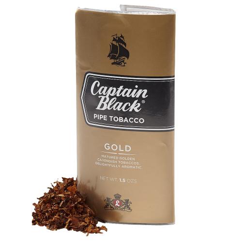 Captain Black Gold Pipe Tobacco | 1.5 OZ POUCH - 6 COUNT