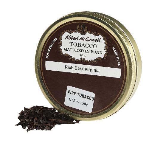 McConnell's Rich Dark Virginia Pipe Tobacco | 1.75 OZ TIN