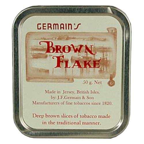 Germain's Brown Flake Pipe Tobacco | 1.75 OZ TIN