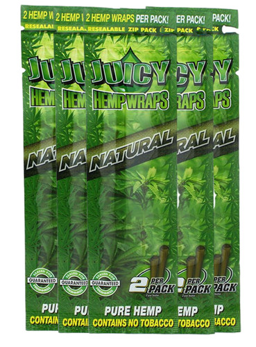 Juicy Jay's Natural Flavored Hemp Wraps - 5 Pack (10 Wraps)