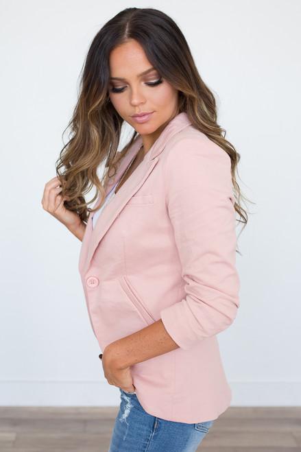 Class Act Blazer - Dusty Pink