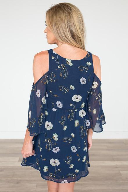 BB Dakota: Rylie Floral Print Dress - Navy - FINAL SALE