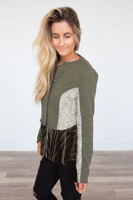 Luxe Love Military Jacket - Olive - FINAL SALE