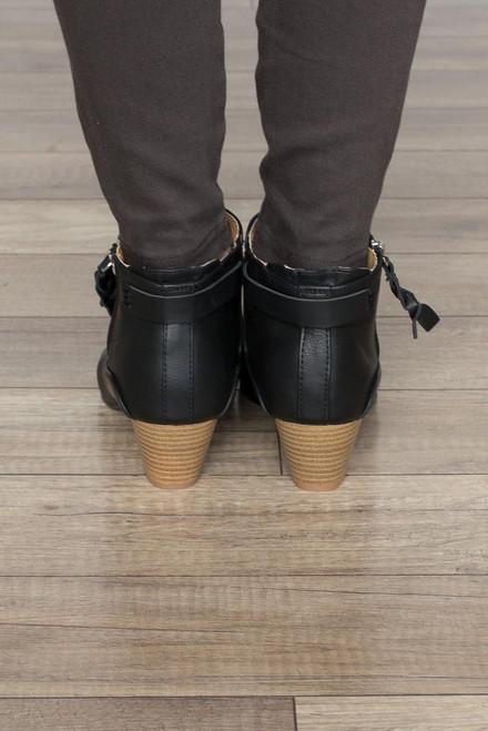 Astoria Zipper Booties - Black - FINAL SALE