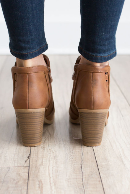 Tennessee Whiskey Cutout Booties - Brown