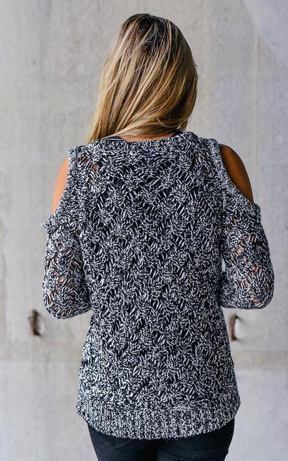 BB Dakota Bernette Sweater - Black/White - FINAL SALE