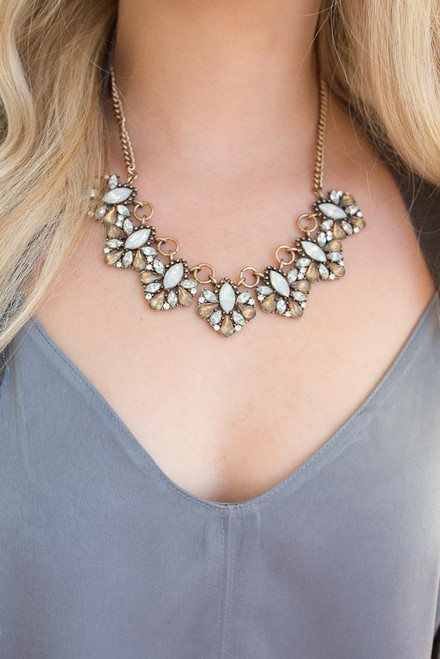 Clara Statement Necklace - Gold Multi - FINAL SALE
