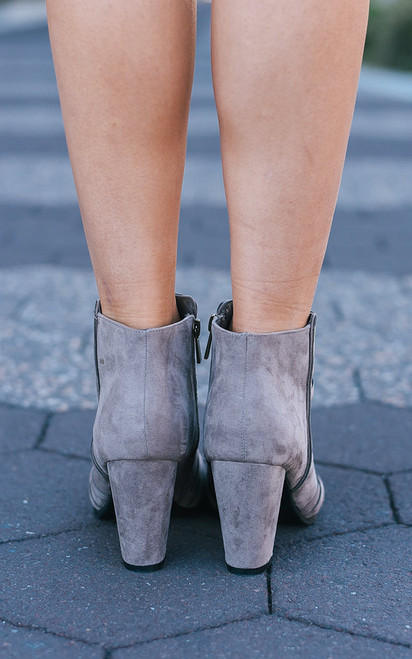 Brooklyn Bound Booties - Taupe - FINAL SALE