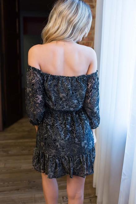 BB Dakota Westerly Velvet Dress - Black - FINAL SALE